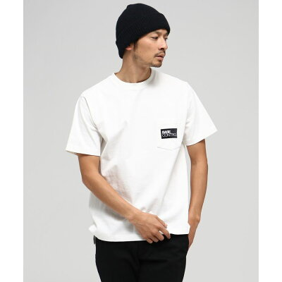 BASE CONTROL ベースコントロール 胸BOXロゴ刺繍 半袖Tシャツ