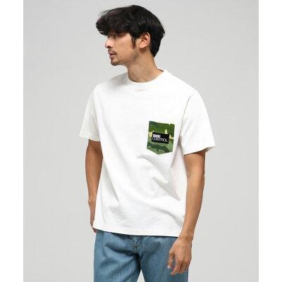 BASE CONTROL ベースコントロール カモフラロゴプリント 半袖Tシャツ
