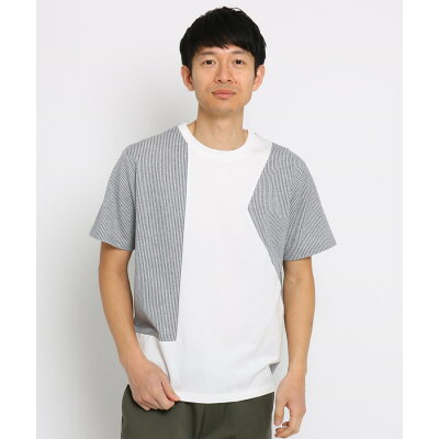 THE SHOP TK Men  ザ ショップ ティーケー メンズ  アシメデザインTシャツ