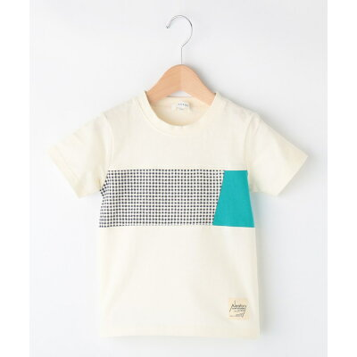 3can4on Kids サンカンシオン キッズパネル切替Tシャツ