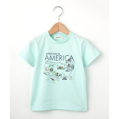 Dessin Kids  デッサン キッズ  20天竺 アメリカマップTシャツ