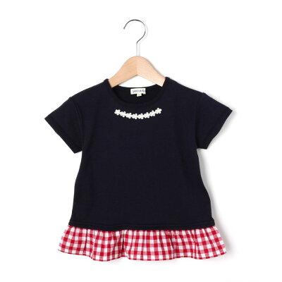 SHOO LA シューラルー 80-130cm/吸水速乾/接触冷感/ ギンガムドッキングTシャツ