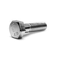 鉄/ダクロダイズド 六角ボルト 半ねじ M8×55