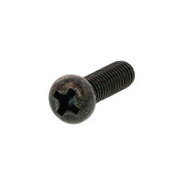 鉄/三価ブラック + ナベ小ねじ 全ねじ M4 × 75