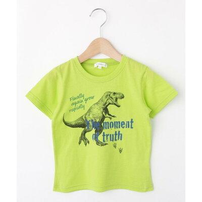 3can4on Kids 恐竜プリントTシャツ