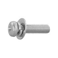 鉄/黒色クロメート + ナベセムス P=3 M10×20