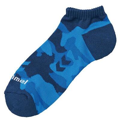 ヒュンメル hummel スニーカーソックス カモ HAG7053 ネイビー