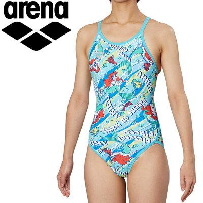 アリーナ 水泳 ディズニーJr 水着 ガールズ ジュニア DIS-9355WJ-BLU