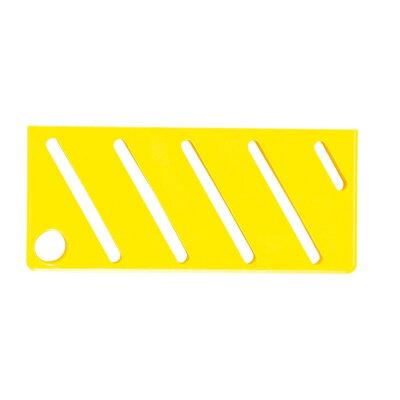 HACCP包丁差用カラープレート A 斜 タイプ イエロー 8893610