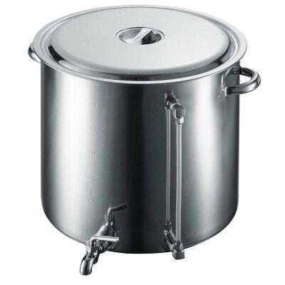 18-8 スープ寸胴鍋(蛇口・水量計付) 80型
