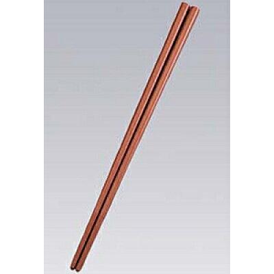 SPSカラー樹脂箸22.6cm 四角10膳入すべり止め付 こげ茶コード5582370