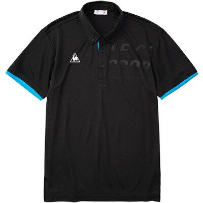 ルコック スポルティフ le coq sportif メンズ トレーニングウェア 半袖ポロシャツ ブラック QMMPJA42 BLK