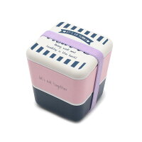 PINK-latte コンパクト二段ランチボックス ネイビー(093) 00