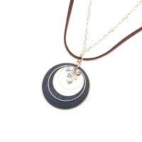 3can4on 重ねリング月の輪ネックレス ネイビー(093) 00