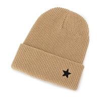 SHOO・LA・RUE/DRESKIP スター刺繍ニット帽 ベージュ(052) 00