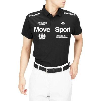 デサント DESCENTE メンズ サンスクリーン ポロシャツ ブラック DMMRJA70 BK