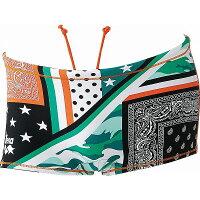 ARENA(アリーナ) TOUGH SUIT ショートボックス SAR7111 カラー グリーン×オレンジ×ブラック