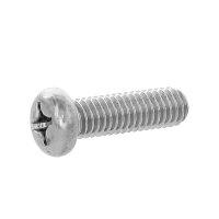 黄銅/黒ニッケル + ナベ小ねじ 全ねじ M3.5 × 8