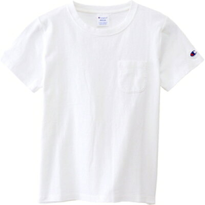 チャンピオン Champion レディース ベーシック ポケット Tシャツ ホワイト CW-M321 010 レディース