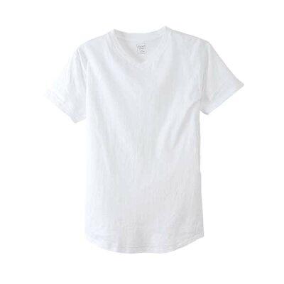 MAX20Hanesヘインズ ウィメンズ VネックTシャツ ビッグTシャツ 半袖 カットソー レディース 無地 hw1-m201