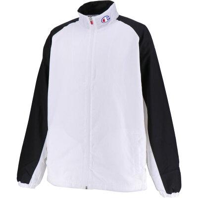 Champion チャンピオン クロス ウォームアップシャツ 裏起毛 男女兼用 ユニセックス TEAM CLOTH WARMUP SHIRTS C3NBC10 ホワイト 3XL