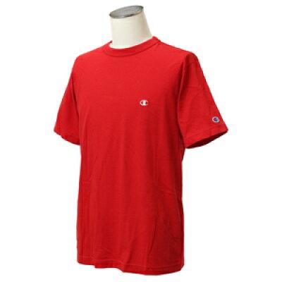 CHAMPION メンズ Tシャツ ベーシック(Mサイズ/レッド) C3-P300