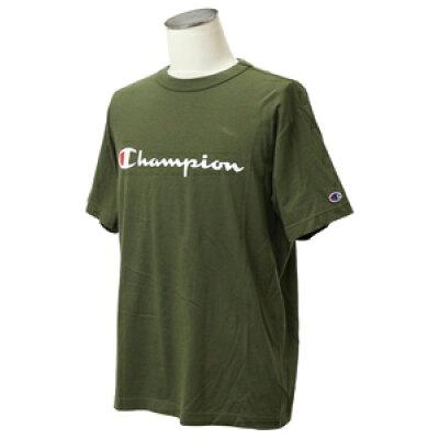 チャンピオン Champion メンズ ベーシック Tシャツ ダークグリーン C3-P302 570