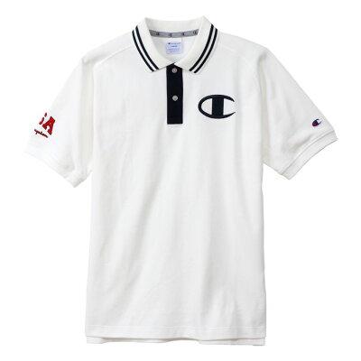 チャンピオン  ゴルフ Champion  メンズ ポロシャツ 半袖ポロシャツ ストレッチ UVカット 鹿の子素材 ロゴ刺繍 2019  ゴルフウェア