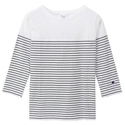 チャンピオン CHAMPION レディース ウィメンズ 3/4スリーブ Tシャツ Lサイズ/ホワイト CW-P402