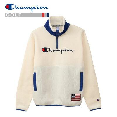 チャンピオン ゴルフ ハーフジップジャケット メンズ C3-QG609-020 19FW