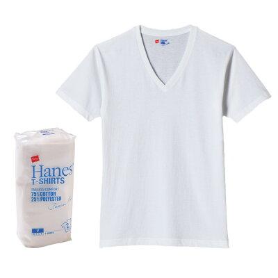 Hanes ヘインズ ジャパンフィット 2P Japan Fit Blue Pack Vネック Tシャツ ティーシャツ 半袖