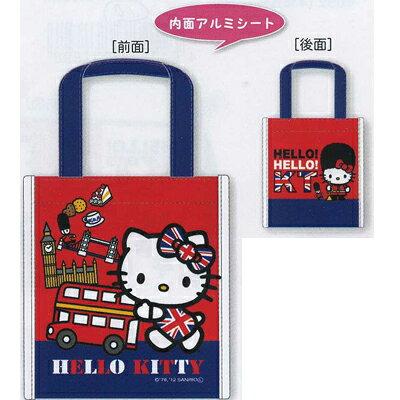 【ハローキティ】 角型ランチバッグ ユニオンジャックシリーズ