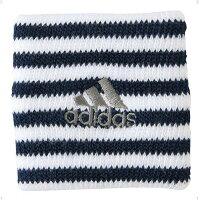 adidas/アディダス ボーダーリストバンド KF617/ホワイト×ブルー×シルバー/0(FREE)