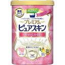 バスクリン プレミアムピュアスキン やわらか肌 ホワイトフローラルの香り 600g(入浴剤)