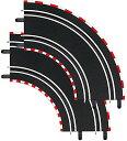 1/43 スロットカーコース  CARRERAカレラ GO/D143 用 カーブ 1/90°2pcs 20061603
