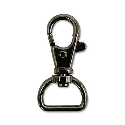 日本紐釦貿易 S27-36 バッグ用ナスカン 内径1.6x4.2cm ブラックニッケル 10個入 86 S27-36