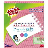 3M ふきん スコッチブライト セルロース クロス ピンク&ブルー 2色入