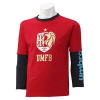アンブロ JR グラフィックレイヤーシャツ DS-UCA5357J-MRED