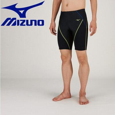 ミズノ MIZUNO メンズ フィットネス水着 BGスイムハーフスパッツ ブラック×ライム N2JB912193