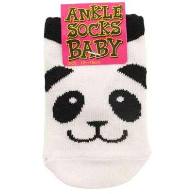 ベビーアンクルソックス 新生児用靴下 PANDA パンダ オクタニコーポレーション 10-15cm 足首ベルコモン