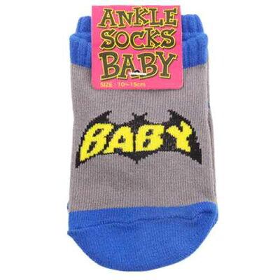 ベビーアンクルソックス 新生児用靴下 BAT BABY オクタニコーポレーション 10-15cm 足首ベルコモン