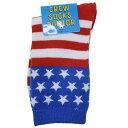 US FLAG 子供用足首靴下 ジュニアクルーソックス 星条旗 オクタニコーポレーション 18-22cm