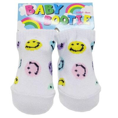SMILE PASTEL MULTI 赤ちゃん靴下 ベビーブーティーソックス オクタニコーポレーション 7-8cm