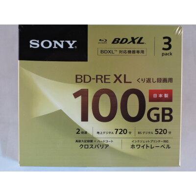 SONY 3層100GB  ブルーレイディスク 3BNE3VCPS2