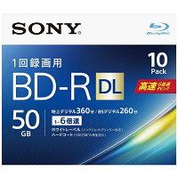 SONY  ビデオ用ブルーレイディスク 高速書き込み6倍速対応のインクジェット対応ワイドBD-R 2層:6倍速 10BNR2VJPS6