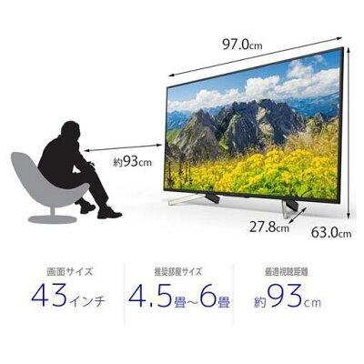 SONY BRAVIA 4K液晶テレビ X7500F KJ-43X7500F 43.0インチ