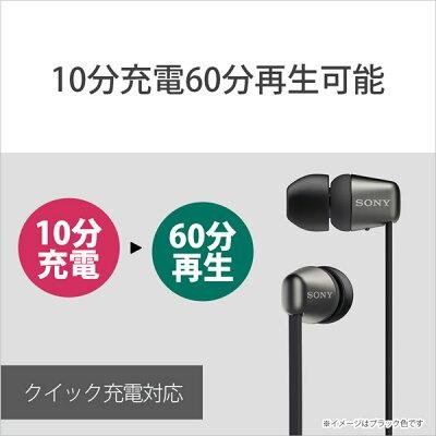 SONY ワイヤレス イヤホン WI-C310(B)