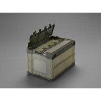 エスコ 530x366x334mm/50.4L折畳コンテナ (半透明/蓋/5コ  EA506AA-130E