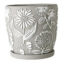 SPICE OF LIFE RELIEF PLANTER グレーフラワー L CCGZ2023