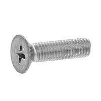 鉄/ステンめっき + サラ小ねじ 全ねじ M4 × 15
